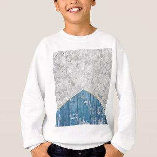 Concrete Arrow Blue Wood #347 Sweatshirt