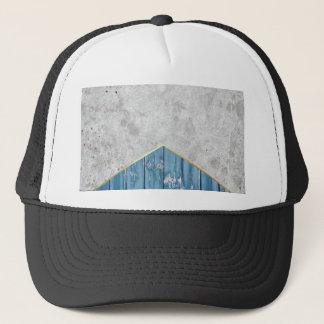 Concrete Arrow Blue Wood #347 Trucker Hat