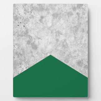 Concrete Arrow Forest Green #326 Plaque
