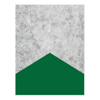 Concrete Arrow Forest Green #326 Postcard
