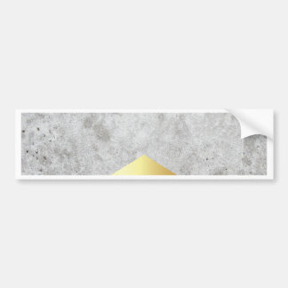 Concrete Arrow Gold #372 Bumper Sticker