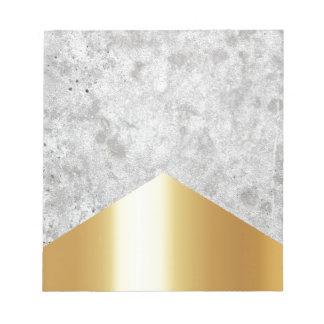 Concrete Arrow Gold #372 Notepad