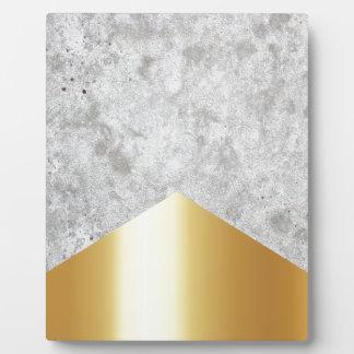 Concrete Arrow Gold #372 Plaque