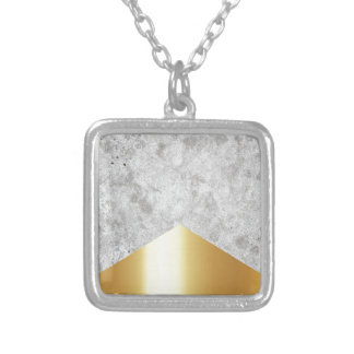 Concrete Arrow Gold #372 Silver Plated Necklace