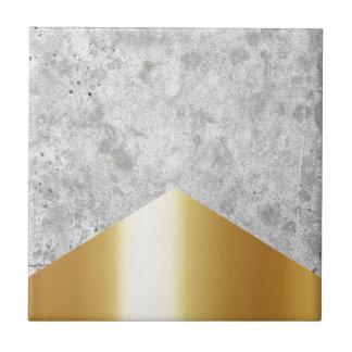 Concrete Arrow Gold #372 Tile