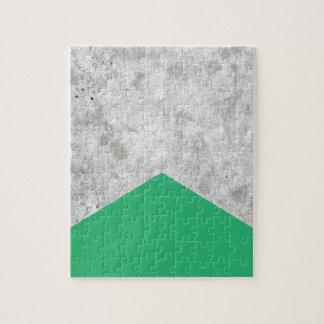 Concrete Arrow Green #175 Jigsaw Puzzle