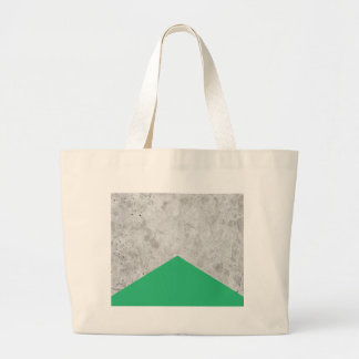 Concrete Arrow Green #175 Large Tote Bag