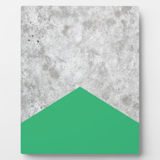 Concrete Arrow Green #175 Plaque