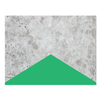 Concrete Arrow Green #175 Postcard