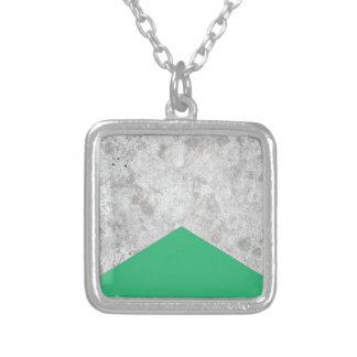 Concrete Arrow Green #175 Silver Plated Necklace