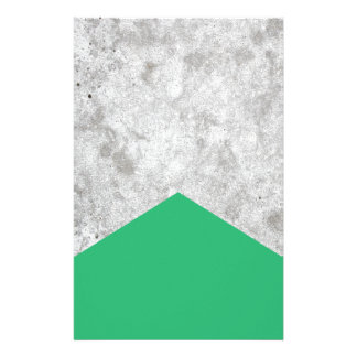 Concrete Arrow Green #175 Stationery