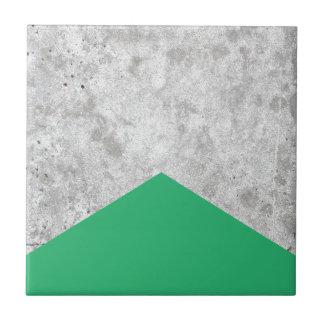Concrete Arrow Green #175 Tile