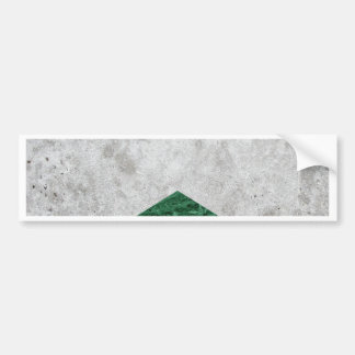 Concrete Arrow Green Granite #412 Bumper Sticker