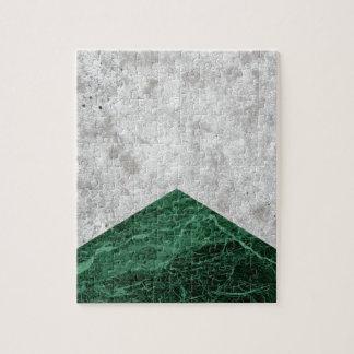 Concrete Arrow Green Granite #412 Jigsaw Puzzle