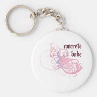 Concrete Babe Keychain