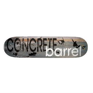 Concrete Barrel X Skate Board