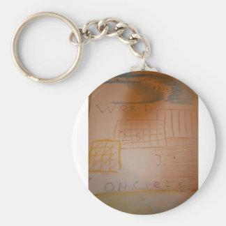 Concrete by idea key chain