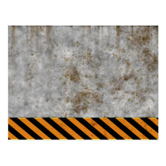 Concrete Caution Construction Postcard