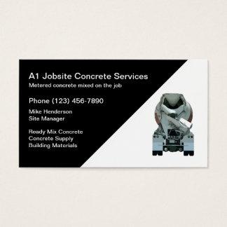 Concrete Construction Business Card