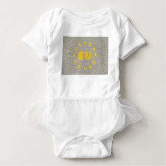 Concrete EU Flag Baby Bodysuit