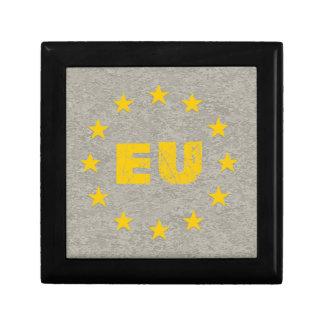 Concrete EU Flag Jewelry Box