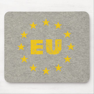 Concrete EU Flag Mouse Pad