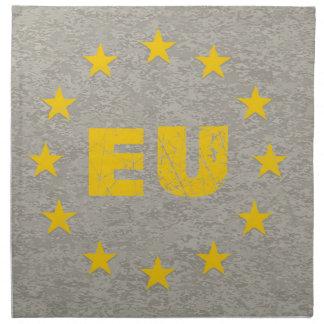 Concrete EU Flag Napkin