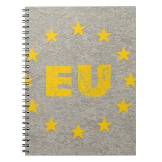 Concrete EU Flag Notebook