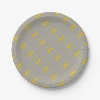 Concrete EU Flag Paper Plate