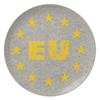 Concrete EU Flag Plate