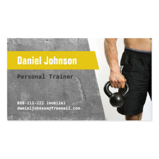 Concrete Fitness Personal Trainer Photo Business Card