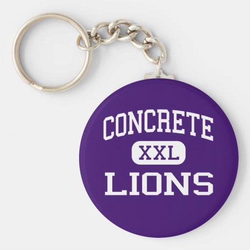 Concrete - Lions - High - Concrete Washington Keychains