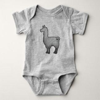 Concrete Llama Baby Bodysuit