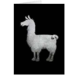 Concrete Llama Greeting Card