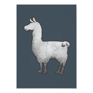 Concrete Llama Invitation