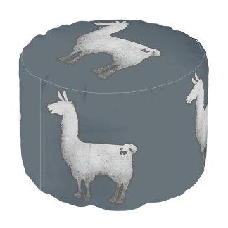 Concrete Llama Pouf