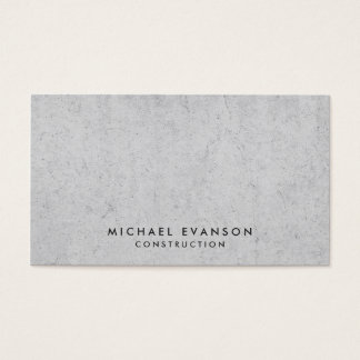 Concrete Look Simple Construction Professional Business Card