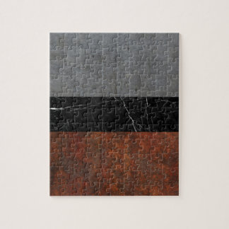 Concrete, Marble and Rusted Iron Abstract Jigsaw Puzzle