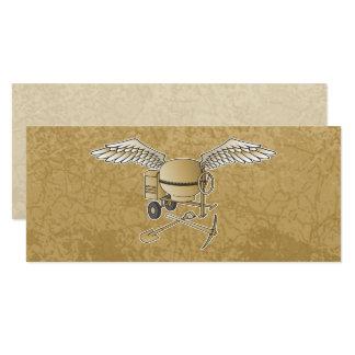 Concrete mixer beige card