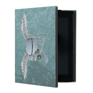 Concrete mixer blue-gray iPad folio case