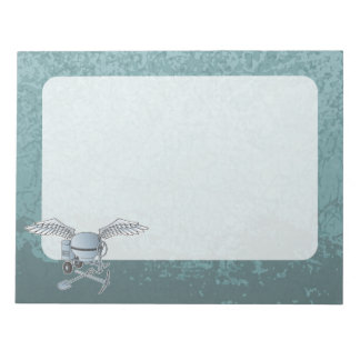 Concrete mixer blue-gray notepads