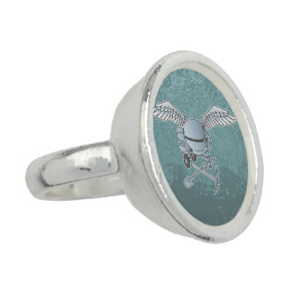 Concrete mixer blue-gray rings