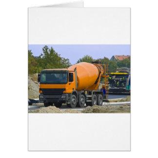 concrete mixer card