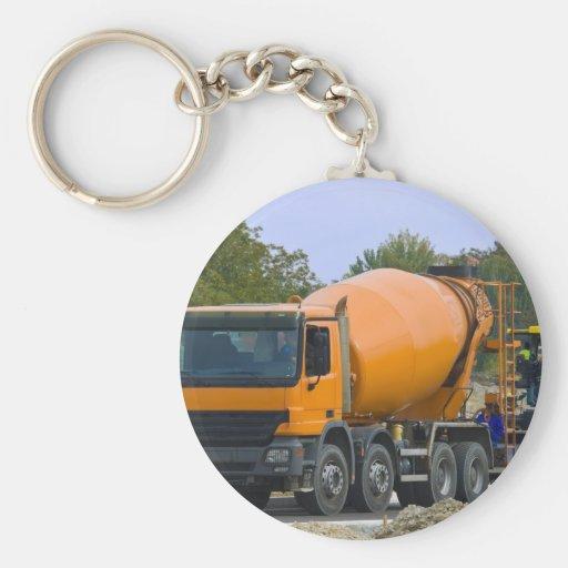 concrete mixer key chains