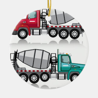 Concrete mixer Truck Ceramic Ornament