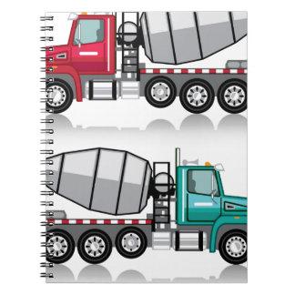 Concrete mixer Truck Spiral Notebook