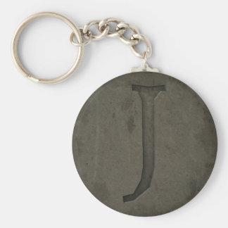 Concrete Monogram Letter J Key Chains
