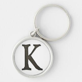 Concrete Monogram Letter K Key Chains