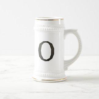 Concrete Monogram Letter O 18 Oz Beer Stein