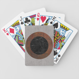 Concrete, Rusted Iron, and Black Marble Abstract Poker Deck